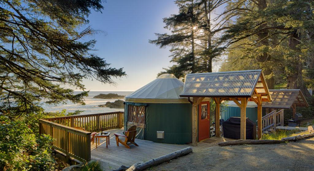 Yurts at Wya Point Resort